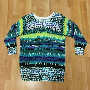 Women's Joseph A.  Ribbed Neck Sweater,  Sz. Med